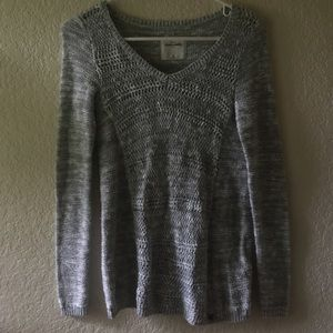 Abercrombie Kids Sparkly Silver Sweater